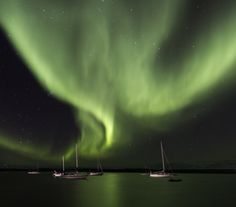 Yellowknife, Northwest Territories Canada	Date shot: September 6, 2013     The Aurora Borealis exploded in the night sky over Great Slave Lake last night lighting the docked sailboats