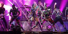 La cantante estadounidense Katy Perry se presentó este viernes en Bogotá.