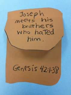 Children's Bible Lessons: Lesson - Joseph Meets His Brothers Who Hated Him (Song)