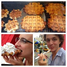 Wafels & Dinges Food Truck in New York - a great sweet treat.