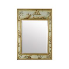 New La Barge mirror features reverse painted glass reminiscent of vintage mirrors found in the line in the 1980's - beautiful.