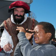 Magellan gets some navigation help from a young guest at a science fair in Berkeley, CA.