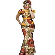 African Dashiki Plus Size Long Women Set Clothing - Dukaiko Fashion African American Fashion, African Fashion Ankara, African Fashion Designers, Latest African Fashion Dresses, African Dresses For Women, African Print Fashion, Africa Fashion, African Attire, African Style