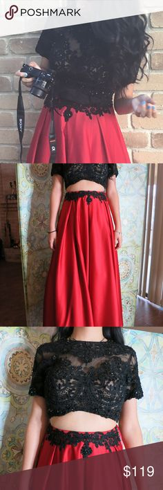 I just added this listing on Poshmark: Prom Dress Special Occassion Red and Black. #shopmycloset #poshmark #fashion #shopping #style #forsale #UNBRANDED #Dresses & Skirts