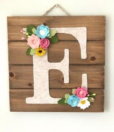 Personalized letter wall art for nursery decor bedroom dorm New Crafts, Baby Crafts, Wood Crafts, Personalized Wall Art, Personalized Baby Gifts, Nursery Wall Decor, Wall Art Decor, Bedroom Decor, Baby Decor