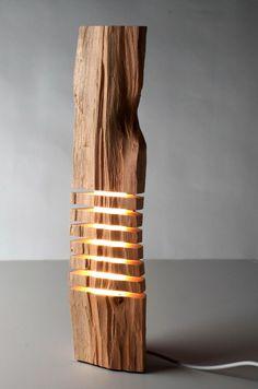 Moderne Holz Skulptur Lampe Design Ideen Kollektion Etsy | Holz, Möbel Home Design Ideas