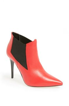 Command a room with a red hot boot! Bootie Boots, Shoe Boots, Ankle Boots, Shoe Gallery, Red Boots, Hot Shoes, Me Too Shoes, Chelsea Boots, Topshop