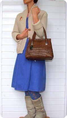 Vintage D-Exklusiv Leder Schultertasche Handtasche Leather Purse Kroko Croco  in Kleidung & Accessoires, Damentaschen | eBay!