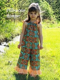 Pillow Case Romper- the link doesn't work the the styles adorable and I am sure I could find something just like it