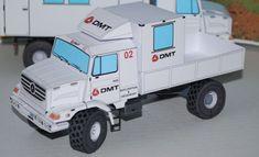 Mercedes-Benz Zetros Off-Road Truck Free Vehicle Paper Model Download