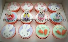 Baking Art by Joey: Miffy the bunny & Garden Theme First Birthday Celebration (2D & 3D Design)