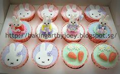 Baking Art by Joey: Miffy the bunny & Garden Theme First Birthday Celebration (2D & 3D Design)