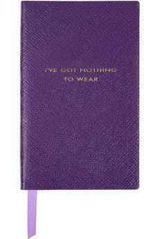 Smythson  I've Got Nothing To Wear textured-leather notebook