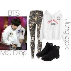 BTS MIC Drop Jungkook inspired outfit