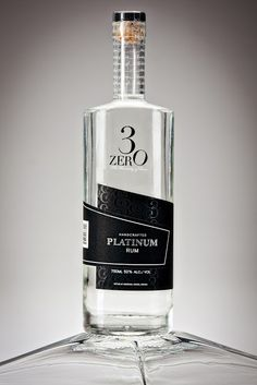 3ZERO Platinum Rum on Packaging of the World - Creative Package Design Gallery