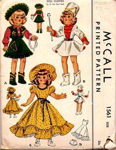 1950s McCall Toni Doll Pattern