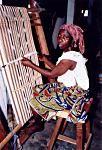 Nike Centre: Adire cloth, batik, indigo, beadwork, painting, carving, embroidery, drumming, dancing, metalwork, weaving