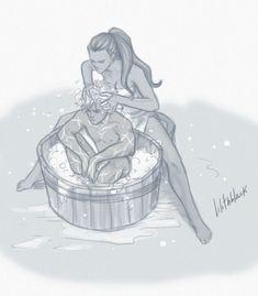 Fenris . Bath by ~Lilithblack on deviantART