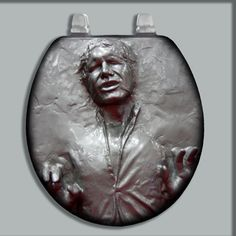 CUSTOM PAINTED/AIRBRUSHED TOILET SEAT HANS SOLO BOTH STANDARD & OBLONG SIZES  (on ebay)