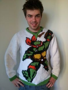 Check out my tmnt sweater I made!