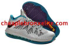 Cheap Lebron 10 Shoes Akron Aeros White Silver Turquoise Blue 579765 002