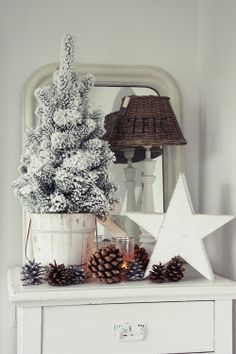 Christmas decorating - white