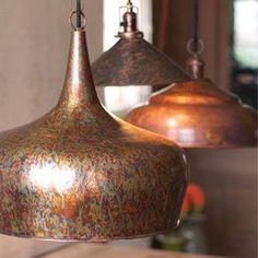 Antique Rust Metal Tear Drop Pendant - Barn Light Electric Co. Rustic Pendant Lighting Kitchen, Vintage Pendant Lighting, Rustic Light Fixtures, Kitchen Lighting Fixtures, Farmhouse Lighting, Antique Lighting, Copper Light Fixture, Kitchen Drop Lights, Plug In Pendant Light
