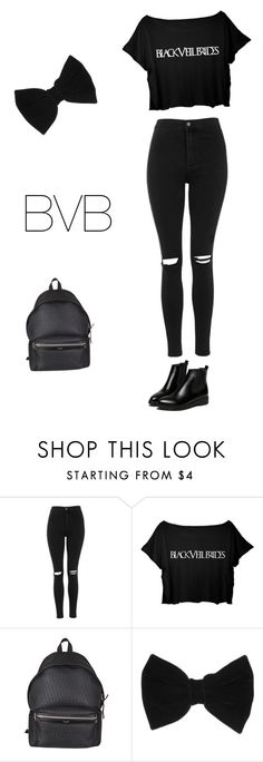 """""""BVB 4 Life"""" by infinitee-vibez on Polyvore featuring Topshop, Yves Saint Laurent, claire's and WithChic"""