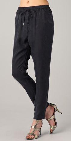 Something Else slouchy black pant