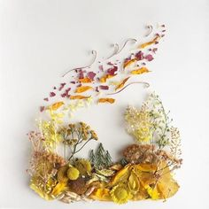 Art Made from Flowers and Twigs