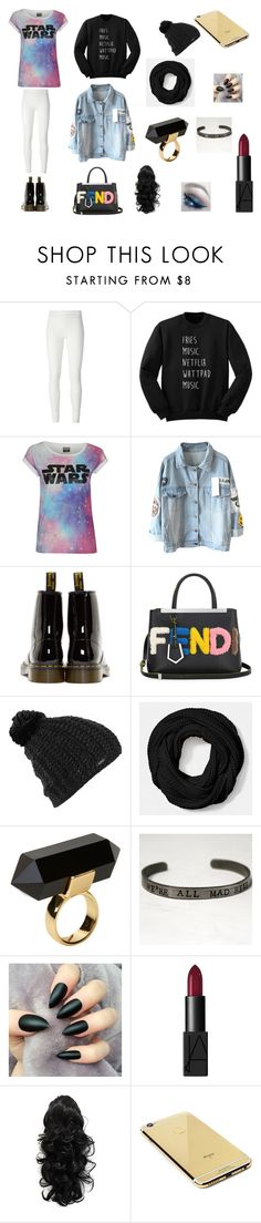 """""""Tumblr af Cute af Cold af // Payton Grace"""" by icon-infinities ❤ liked on Polyvore featuring Rick Owens Lilies, Dr. Martens, Fendi, Burton, Coach, Monki, NARS Cosmetics and Goldgenie"""