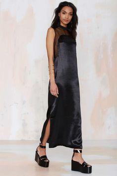 Karla Spetic Dream Master Black Satin Dress