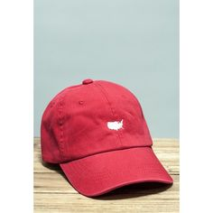 American Silhouette Golf Hat in Red and White by Rowdy Gentleman $25