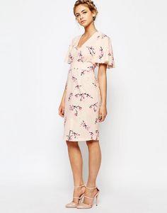 Image 4 of Closet Midi Dress with Angel Sleeve
