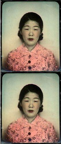 Old Tinted Photobooth Snap by meri73, via Flickr
