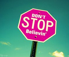 I tried to stop believing but journey wouldn't let me!