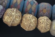 Gold beads from the Viking age found at Gotland, Sweden.