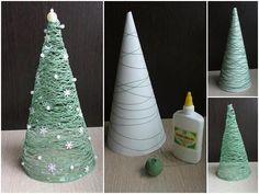Christmas idea! Green string Christmas tree - love!