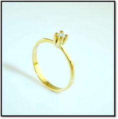 Coleção Miscelânea  - Solitário - Em ouro amarelo 18k e diamante