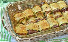 Involtini di zucchine speck e scamorza
