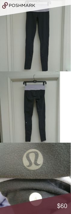 Lululemon pants Lululemon pants in gray and light purple color, in good condition lululemon athletica Pants Leggings
