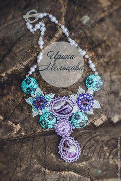 """Колье из бисера и камней """"Очарование"""" / Beaded necklace"""