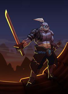"""Orc Samurai"" on Behance"