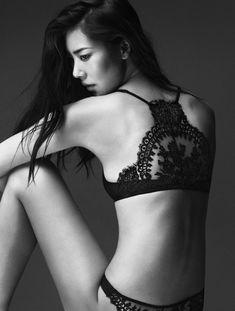 La Perla F/W 2014 // Liu Wen // Lacey goodness #style #fashion #lingerie