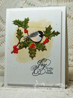 Holly And Mistletoe Cards