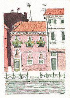 graphisme et illustration - Lausanne Lausanne, Graphic, Watercolour, Illustration, Trips, Italy, Comics, Art, Venice