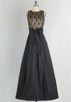 Mingle With Magnificence Dress - Black, Gold, Lace, Belted, Special Occasion, Maxi, Sleeveless
