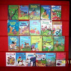 21 Disney Wonderful World of Reading Hardcover Books 1970-80's Vintage~Ages 3-8