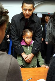 Before Barack Obama was elected as the first African American President of the United States in 2008, he was elected to the Illinois State Senate in 2004, became a father of two in 2001, a husband in 1992, and the first African American President of the Harvard Law Review in 1990. Here are a few rare photos that capture some of Barack, Michelle, Malia and Sasha Obama's incredible journey to the White House. The Obama family before Sasha was born in 2001. Malia with her new baby sister...