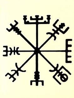 simbolo vikingo, para no perderse, brújula